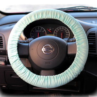 Steering Wheel Cover Bow Wheel Car Accessories Lilly Heated For Girls Interior Aztec Monogram Tribal Camo Cheetah Sterling Chevron Baby Blue