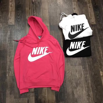 """Nike""Women Fashion Hooded Top Sweater Pullover Sweatshirt"