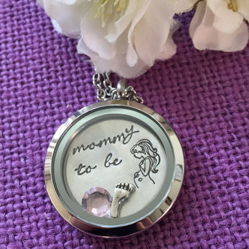 Expecting Mom Gift - Mommy to be - Baby Shower Gift - Mommy Locket - Pregnant Mommy - Gift for Expecting Mom