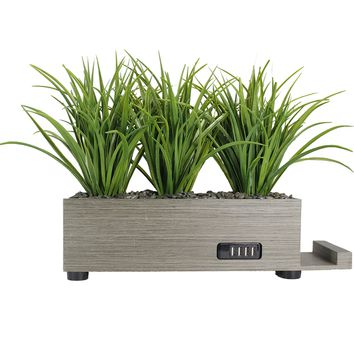 4 Port - Taupe, Grass Charging Station