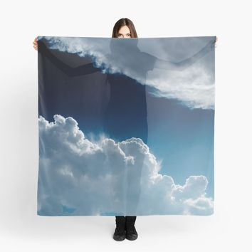'Sky, clouds and lights.' Scarf by VanGalt