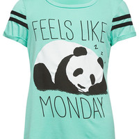 FULL TILT Panda Monday Girls Tee | Graphic Tees