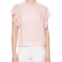 Sandro Anais Flutter-Sleeve Top | Bloomingdales's