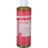 Dr. Bronner's Pure Castile Soap - Fair Trade and Organic - Liquid - 18 in 1 Hemp - Rose - 16 oz