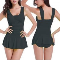 One Piece Flounced Swimsuit