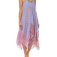 Jessica Simpson Lace Up Chiffon Swim Cover Up
