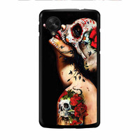 Floral Sugar Skull Tattooed Nexus 5 Case