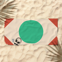 Red Peak Beach Towel by spaceandlines