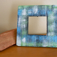 Painted Frame Turquoise and Green by Acires on Etsy