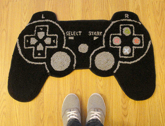 PS3 Controller Inspired Rug from WTCrafts on Etsy  Epic