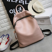 2017 New Arrival Pu Women ShoulderZipper  Backpack Women School Bags For Teenagers Leather Backpack Laptop Backpack Shoulder bag