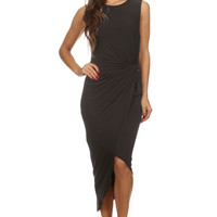 Knit Bodycon Dress - Black