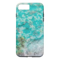 Cool luxury green turquose pattern colour stone iPhone 7 plus case