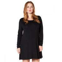 Plus Size Lottie Swing Dress in Black