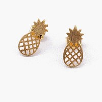 Teeny+Pineapple+Earrings
