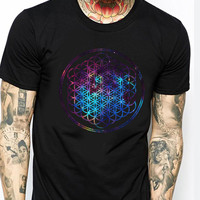 Bring Me The Horizon Galaxy TV Mens T-shirt Black and White