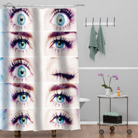 miley cyrus eyes custom shower curtain decorative shower curtain size 36x72,48x72,60x72,66x72