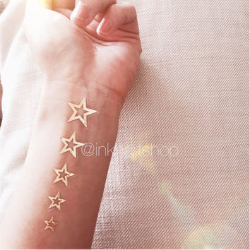 Set of 15 Metallic Star