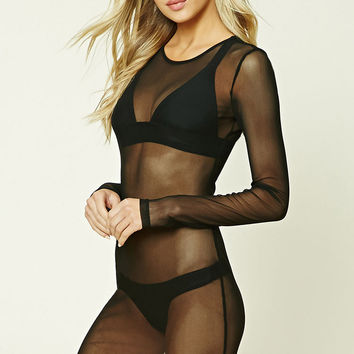 Sheer Mesh Swim Cover-Up