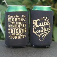 Here's To The Night's We Don't Remember Can Coolers (4 Pack)