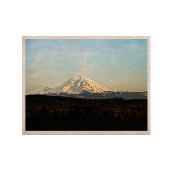 "Sylvia Cook ""Mt. Rainier"" Mountain Photo KESS Naturals Canvas (Frame not Included)"
