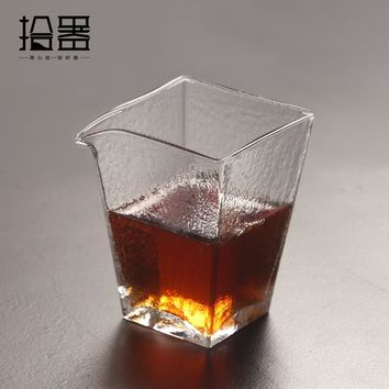 225ml Japanese Handmade Heat Resistant Glass Drink Kung Fu Coffee Tea Set Insulated Clear Teapot Kettle Tea Infuser Travel Cup