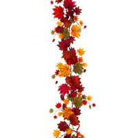 Italian Maple Leaf Garland in Mixed Fall Colors - 6 ft. Long