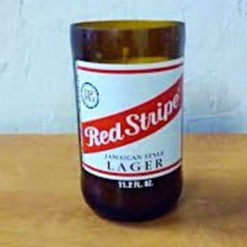NEW! Red Stripe Jamaican Beer Bottle Summer Edition Soy Candle