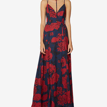 Fame and Partners Floral Georgette Necklace Gown - Dresses - Women - Macy's