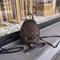 Lv Louis Vuitton Monogram Leather Mini Backpack Bag