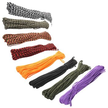 30m Paracord 550 100FT Parachute Cord Lanyard Rope Mil Spec Type III 7 Strands Climbing Camping Outdoor  Survival Kit Equipment