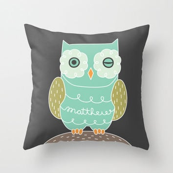 Personalized  Winking Owl Pillow Case