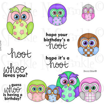 Owlettes Rubber Stamp Set, 00-511P6