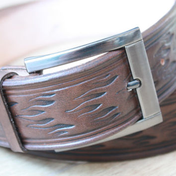 Mens Leather Belt Brown Leather Belt Handmade Accessories Belt for Men husband gift boyfriend gift father gift guys gift traditional belt