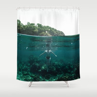 Floating Shower Curtain by nicklasgustafsson