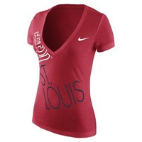 Nike Deep V Dri-Blend 1.4 (MLB Cardinals) Women's T-Shirt
