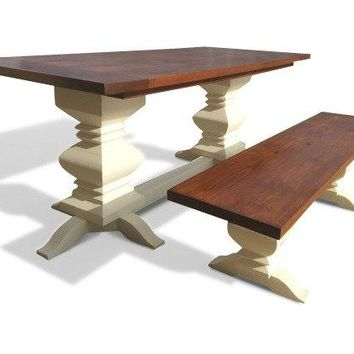 Fancy Farm Table Bench