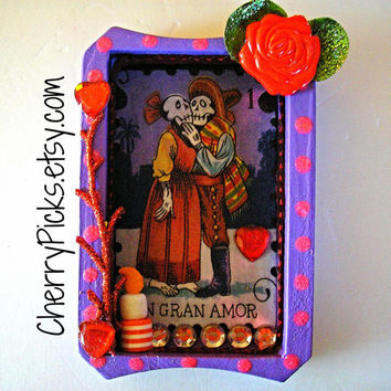 Dia De Los Muertos - Loteria - Nicho - Day Of The Dead - Un Gran Amor (A Great Love)