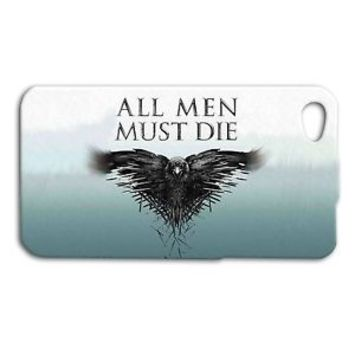 Game of Thrones ALL MEN MUST DIE Quote Phone Case iPhone 4 4s 5 5s 5c 6 6s Plus