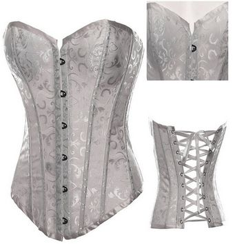 Ladies Slim Sexy Bustier Corsets Black and White