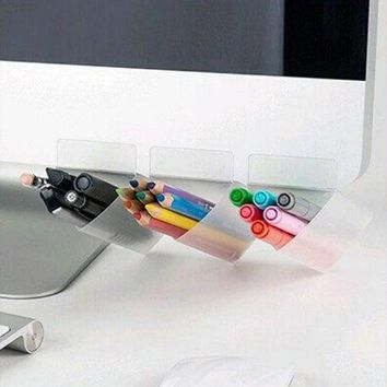 Fashion Computer Monitor Storage Bag Stationery Container Office Supplies Pen Holder Lovely Multi-Functional Pencil Bag