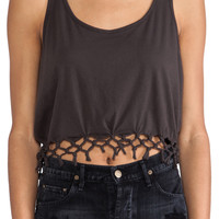 Obey Juniper Tank in Charcoal