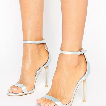 Boohoo Bridal Barely There Heeled Sandal at asos.com