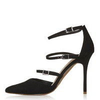 GISELLE Multi Buckle Courts - Black