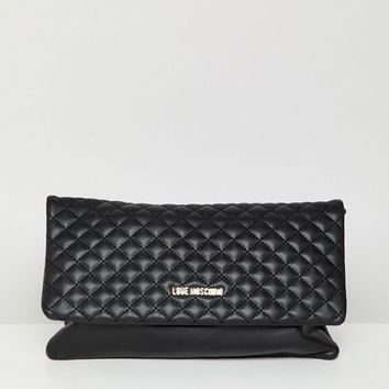 Love Moschino Quilted Logo Chain Bag at asos.com