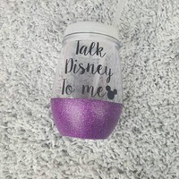 Talk Disney To Me Glitter Cup