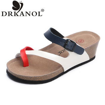 DEKANOL 2017 New Arrival Summer Women Sandals Fashion Comfortable Wedge Sandals Casual Beach Flip Flops Shoes Sandalias Mujer
