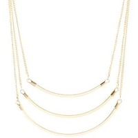 Curved Bar Collar Necklace by Charlotte Russe - Gold