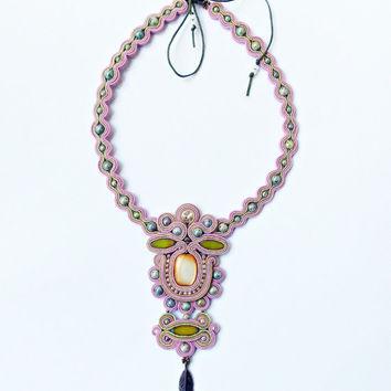 Soutache jewelry. Handmade Jewelry, soutache necklace, beaded jewelry, handmade soutache necklace