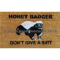 Honey Badger Don't Give a St Door Mat by DamnGoodDoormats